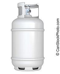 white gas balloon isolated on a white background