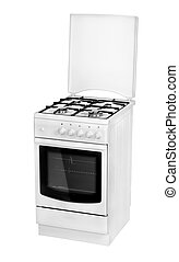 White gas cooker isolated on a white background