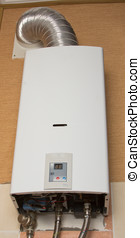White gas water heater