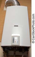 White gas water heater