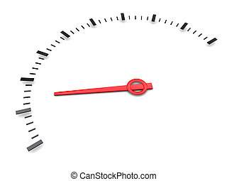 white gauge - 3d illustration of simple meter gauge over...