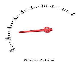 white gauge - 3d illustration of simple meter gauge over...