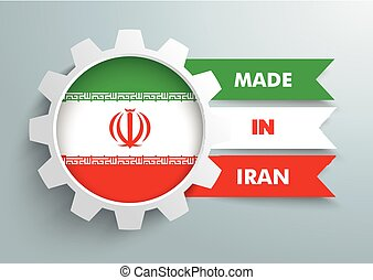 White Gear Made In Iran - White gear with iranian national...