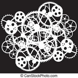 white gears