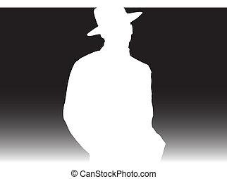 white gentleman illustration