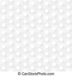 White geometric circle seamless background