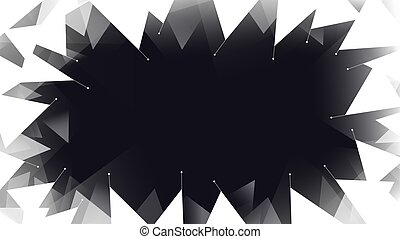 White geometric frame abstract background