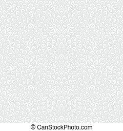 White geometric texture in art deco style