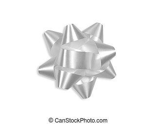 White gift bow (+ clipping path)
