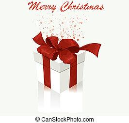 White gift box. Vector Illustration