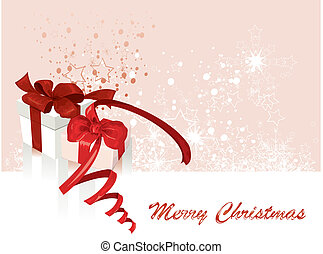 White gifts boxes. Vector Illustration