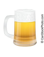 white glass of beer