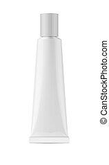 White glossy metal tube for glue