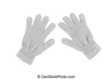 white gloves isolated on a white background