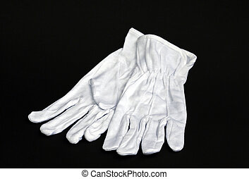 White gloves - Pair of work white cotton gloves - isolated...
