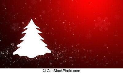 White glow of the Christmas tree_04 - Snowflakes converge...
