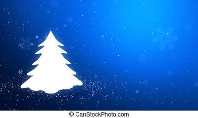 White glow of the Christmas tree_46 - Snowflakes converge...