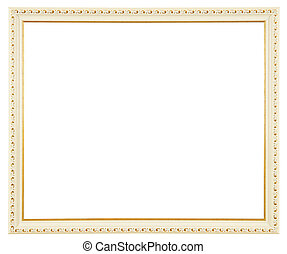 7785f6454abd White Gold Frame White Gold Jewelry Frame On White Background