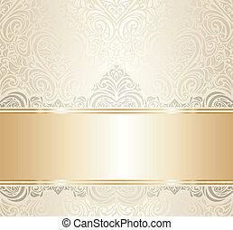 white & gold invitation design - white & gold vintage...
