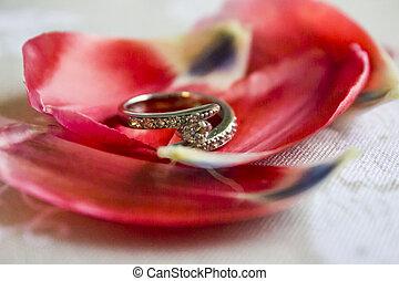 White Gold with Diamond Wedding Ring