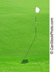 White Golf Flag Hole