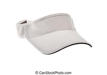 White golf visor for man or woman