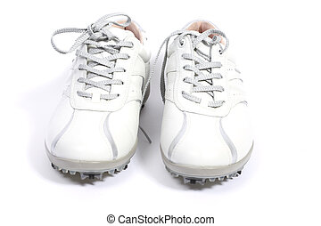 White golfshoes