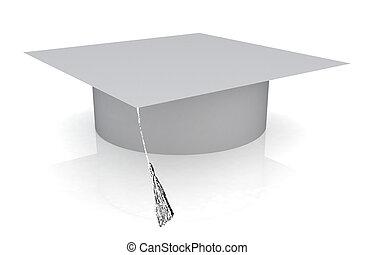 White graduation hat