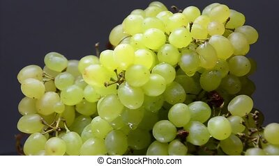 White grapes close-up shot