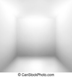 White gray empty room abstract background