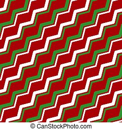 White green red zigzag seamless pattern vector