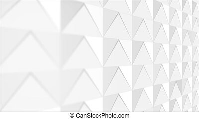 White grey abstract polygonal mosaic tech motion background...