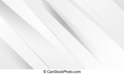 White grey corporate smooth stripes abstract video animation...