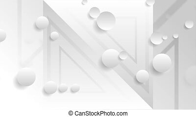 White grey tech minimal abstract video animation - White and...