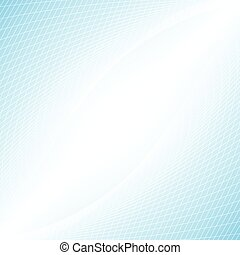 White grid abstract in perspective concept on light blue background vector illustration