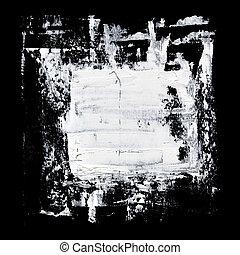 White grunge brush strokes