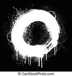 White grunge ring