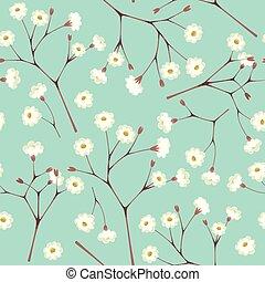 White gypsophila seamless - White gypsophila twigs vintage ...