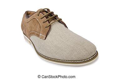 white hím, cipők, háttér, elszigetelt