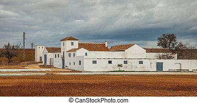 White Hacienda, Andalucia, Spain - A hacienda in Andalusia,...