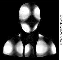 White Halftone Boss Icon