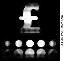 White Halftone British Business Education Icon