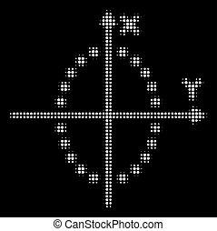 White Halftone Ellipse Plot Icon
