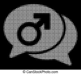White Halftone Male Chat Icon