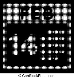 White Halftone Romantic Valentine Day Icon - Halftone...