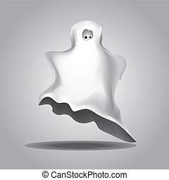 White Halloween ghost