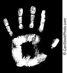 Handprint - White Handprint