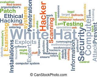 White hat background concept