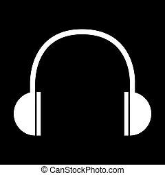 White Headphones icon