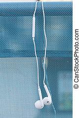 White headset over deckchair